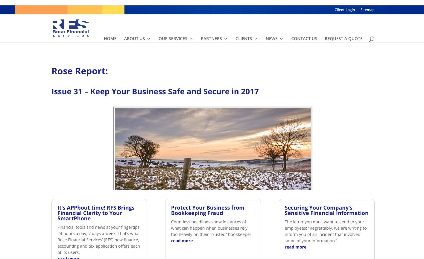 RFS - Rose Report