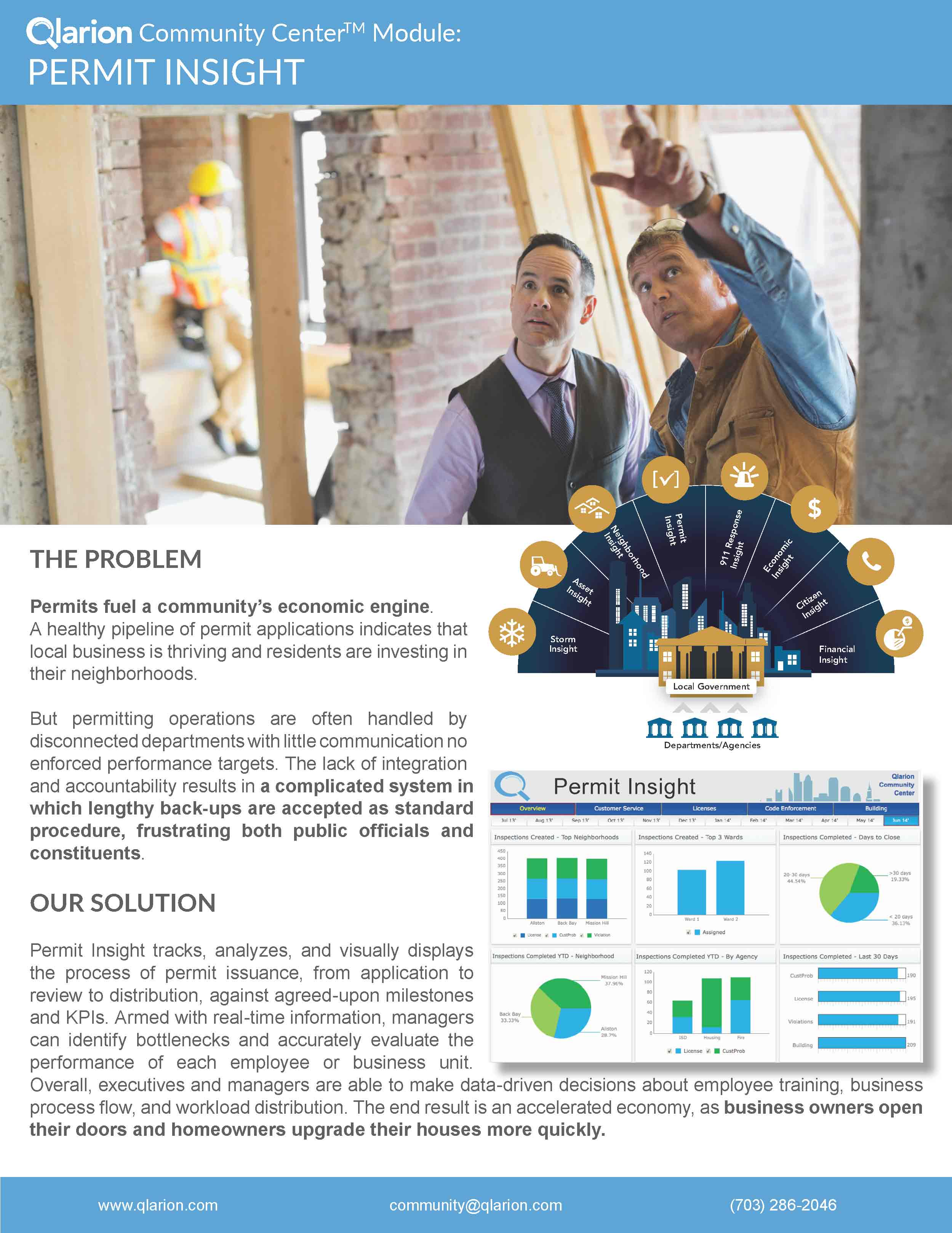 Brochure for government contractor